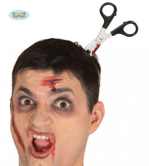Adult Scissors in Head for Zombie Walking Dead Costume Accessory
